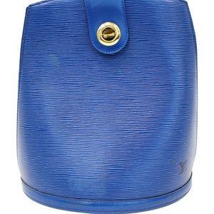 LOUIS VUITTON Epi Leather Blue Cluny Shoulder Bag